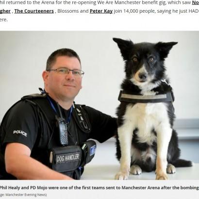【海外発!Breaking News】テロ事件の捜査に関わった警察犬 悲惨な現場を目にして脱毛症に(英)