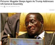 【海外発!Breaking News】ジンバブエ大統領、国連でのトランプ米大統領スピーチでも居眠り