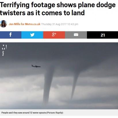 【海外発!Breaking News】何本もの竜巻をかわすロシア機 これが悪天候フライトの恐ろしさ<動画あり>