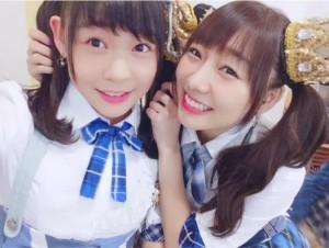 姉妹のように仲が良い浅井裕華と須田亜香里(画像は『須田亜香里 2017年9月6日付Instagram「チームEの最年長と最年少のツインテール。」』のスクリーンショット)