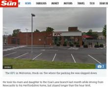 【海外発!Breaking News】ケンタで1時間超えの食事をした客 高額な駐車料金に驚く(英)
