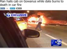 【海外発!Breaking News】運転ミスで車両炎上、助手席の女性を残したまま逃げた男に批判殺到(米)