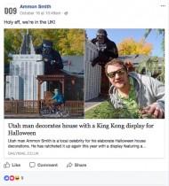 【海外発!Breaking News】米ソルトレイクシティの住宅街に巨大キングコング登場!<動画あり>