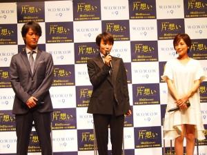 撮影を振り返る中谷美紀、桐谷健太、国仲涼子
