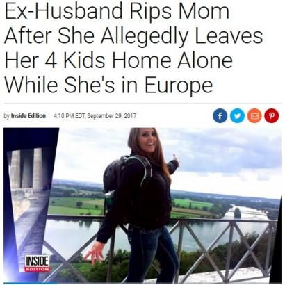 【海外発!Breaking News】銃のある自宅に子供4人を置き去りにして海外旅行した母親(米)