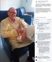 【海外発!Breaking News】新生児室で赤ちゃんを癒し続けて12年 「ICUグランパ」と呼ばれる82歳男性(米)