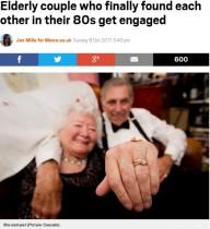 【海外発!Breaking News】バスで隣同士になったのがきっかけ 89歳と84歳のカップルが婚約(スコットランド)