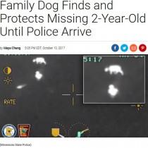 【海外発!Breaking News】3時間行方不明になった2歳男児を飼い犬が守り抜く(米)<動画あり>
