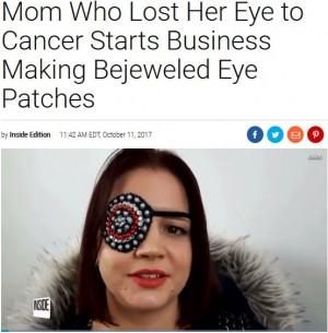 【海外発!Breaking News】がんで片目を失った女性、アイパッチでビジネス展開(英)<動画あり>
