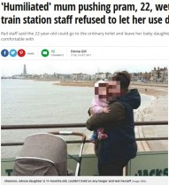 【海外発!Breaking News】ベビーカー使用の母親、障がい者用トイレに入れず失禁 屈辱で怒り露わに(英)