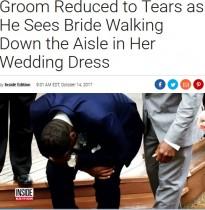 【海外発!Breaking News】ウエディングドレス姿の花嫁を見て感極まりすぎた花婿(米)<動画あり>
