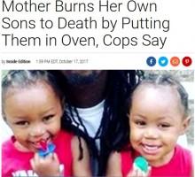 【海外発!Breaking News】息子2人をオーブンへ 焼死させた母親が逮捕(米)<動画あり>