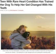 【海外発!Breaking News】難病の少女、自ら訓練した介助犬と強い絆を育む(英)<動画あり>