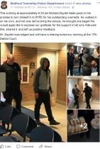 【海外発!Breaking News】「FBでシェア数1,000に達したら出頭する」警察にメッセージした男、差し入れのドーナツ持参で現れる(米)<動画あり>