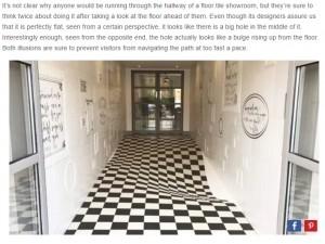 【海外発!Breaking News】絶妙なイリュージョン効果で「廊下を走る者」激減! 英タイル会社が新たな試み