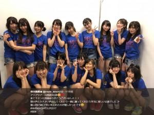 台湾公演を終えたNMB48(画像は『市川美織 2017年10月2日付Twitter「アジアツアー台湾2回公演」』のスクリーンショット)