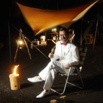 【エンタがビタミン♪】ムーディ勝山がモデルに ライフスタイル誌でキャンプロケ「豪雨を受け流す」