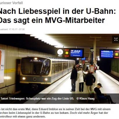【海外発!Breaking News】金曜日午後の地下鉄車両で性的行為を始めたカップル 警察も出動(独)
