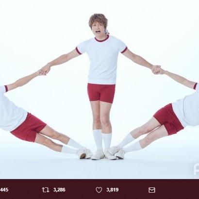 【エンタがビタミン♪】稲垣・草なぎ・香取が体操着で組体操  「最高に可愛い」の声
