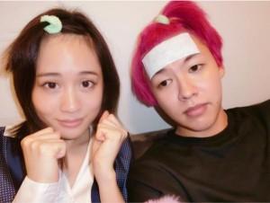 前田敦子とぺえ(画像は『ぺえ 2017年10月7日付Instagram「体調が悪かった私を看病しに敦子が飛んできてくれた」』のスクリーンショット)