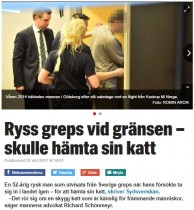 【海外発!Breaking News】スウェーデン入国禁止処分のロシア人 「飼い猫を取り戻したい」と再入国も御用に