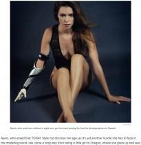 【海外発!Breaking News】先天性右手欠損の女性「人生を変えてみせる」 自ら売り込み国際的なモデルに(米)