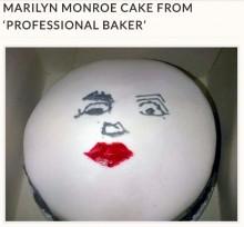 """【海外発!Breaking News】プロに注文した""""マリリン・モンロー""""ケーキ、仕上がりに愕然(英)"""