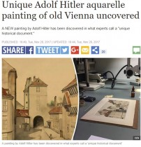 【海外発!Breaking News】わずか75セントで購入した水彩画 ナチス指導者ヒトラーの作品と判明(オランダ)