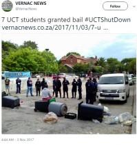 【海外発!Breaking News】「大学の授業料引き上げを凍結して!」 女子学生らが裸で抗議し逮捕(南ア)