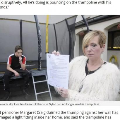 【海外発!Breaking News】「トランポリンの音がうるさい」近所からの苦情で立ち退きと罰金に直面した母子(英)