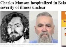【海外発!Breaking News】余命わずかか 連続殺人鬼チャールズ・マンソン(83)病院へ搬送