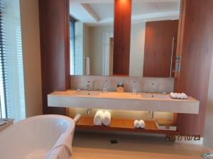 朝のバスルーム Photo by 横手