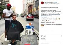 【海外発!Breaking News】路上でホームレスのヘアカットをする男性、店をプレゼントされる(米)