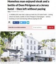 【海外発!Breaking News】5つ星ホテルで無銭飲食したホームレス男性、逮捕されるも同情の声集まる(英)