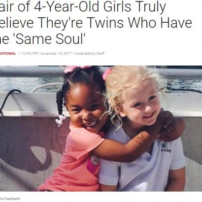 【海外発!Breaking News】肌の色が違っても「私たちは双子なの」 仲良し4歳児の2人(米)