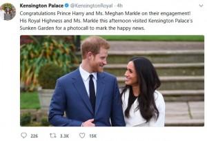 【イタすぎるセレブ達・番外編】ヘンリー王子、メーガン・マークルとの婚約会見で「運命だと思った」