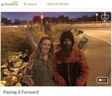 【海外発!Breaking News】2,200円でホームレスの男性に救われた女性、寄付金を募り恩返し(米)