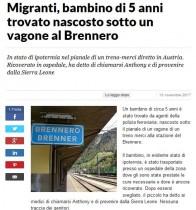 【海外発!Breaking News】たった1人で貨物列車の床下に隠れていた5歳難民少年 国境付近で保護(伊)