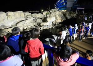 鴨川シーワールドを訪れた子どもたち