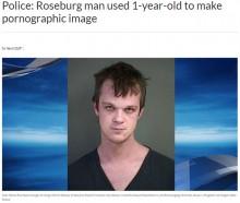 【海外発!Breaking News】IPアドレスにより29歳継父が逮捕 1歳養女の裸動画を小児性愛者に(米)
