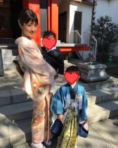 """【エンタがビタミン♪】小倉優子「太陽のような温かい母親になりたい」 長男の""""七五三""""で決意新たに"""