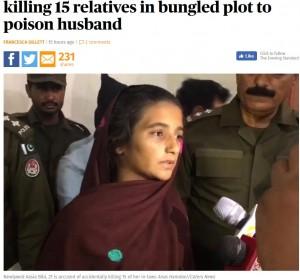 【海外発!Breaking News】夫を毒殺しようとした妻 失敗するも親類15名が犠牲に(パキスタン)