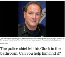 【海外発!Breaking News】警察署長、実弾入り拳銃を図書館のトイレに置き忘れる 4日後の紛失公表に市民は不快感(米)