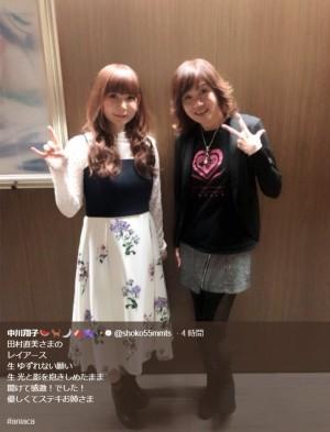 【エンタがビタミン♪】中川翔子、田村直美と2ショット『アニソン・アカデミー』で生歌に感激