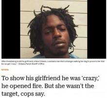 【海外発!Breaking News】彼女に「よく見ておけ。俺は怒るとクレイジーになる」26歳男が無差別発砲(米)