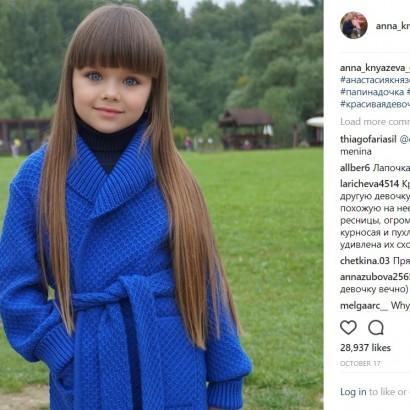 【海外発!Breaking News】世界一の美少女!? 6歳にしてInstagramフォロワー56万人超のロシア人少女