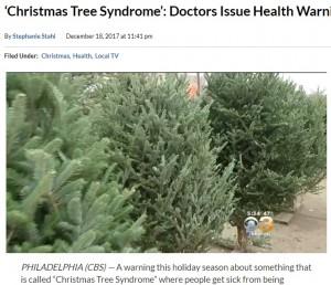 【海外発!Breaking News】モミの木の表面に…クリスマスツリーでアレルギー発症者急増か(米)