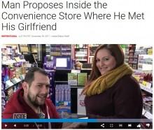 【海外発!Breaking News】勤務中に出会った場所で プロポーズの瞬間を防犯カメラがキャッチ(英)<動画あり>