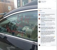 【海外発!Breaking News】不治の病を患う息子のため障がい者用スペースに駐車した母、心無い落書きに怒り(米)