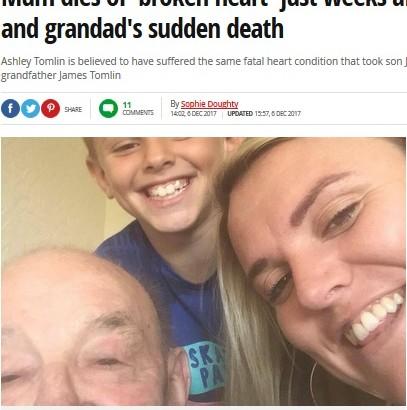 【海外発!Breaking News】父、孫、娘まで…1か月間に同じ病で家族3人を亡くした男性 それでも「前向きに生きる」(英)
